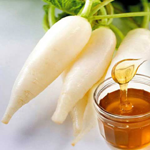 Chữa viêm đường hô hấp bằng củ cải mật ong