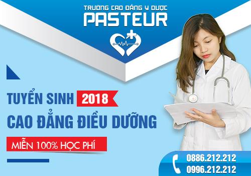 Trường Cao đẳng Y Dược Pasteur tuyển sinh Cao đẳng Điều dưỡng chính quy