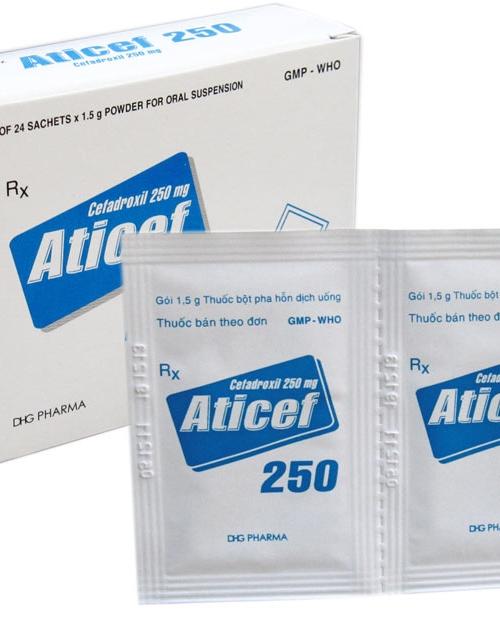 Tìm hiểu thông tin về thuốc kháng sinh Aticef 250
