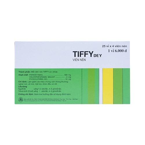 Tác dụng phụ khi dùng thuốc Tiffy®