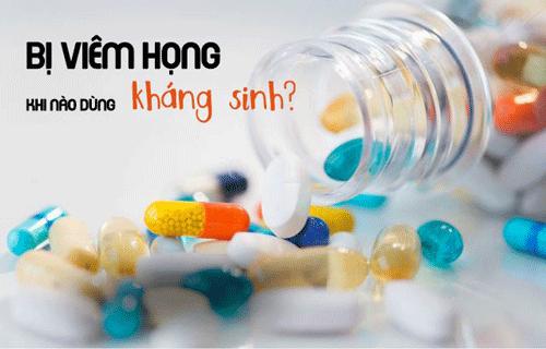 Bị viêm họng dùng kháng sinh nào?