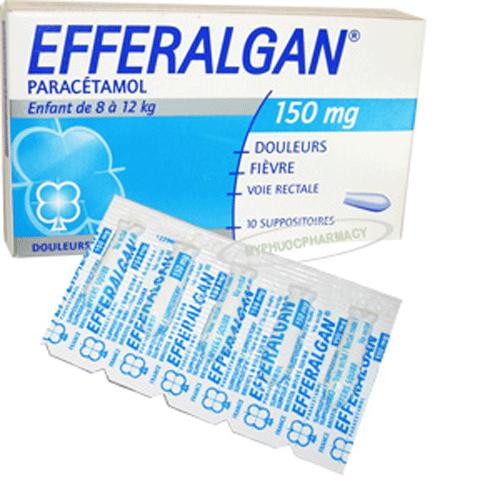 Thuốc giảm đau hạ sốt efferalgan 150mg